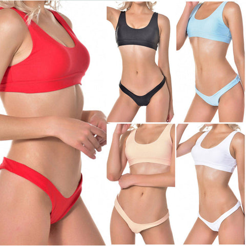 Women Push-up Padded Bra Bandage Bikini Swimsuit Triangle Swimwear Bathing
