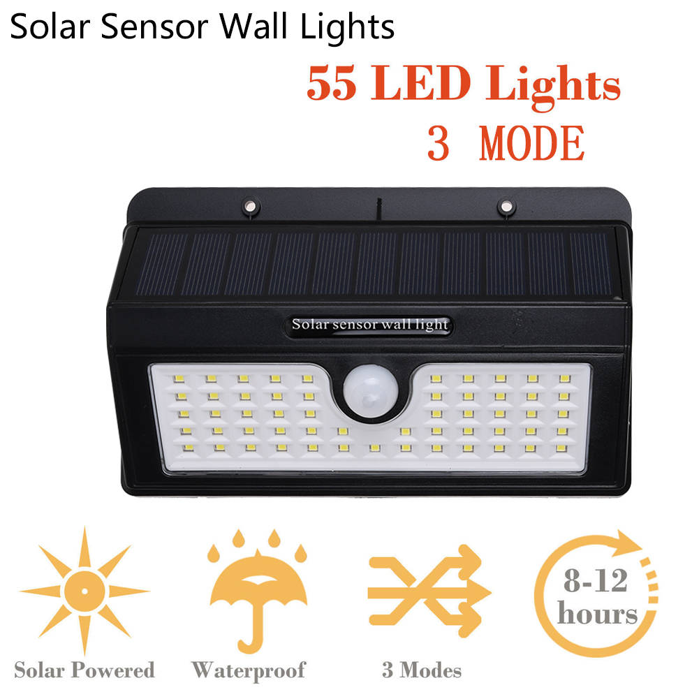 LED Solar Outdoor Motion Sensor Light Separable Garden Security Wall Lamp