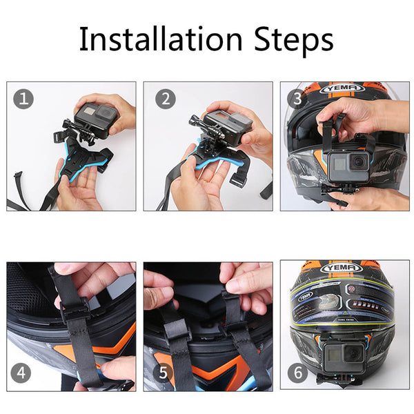 Moto Helmet Chin Mount Bracket Holder For GoPro Hero 6/5/4 Camera