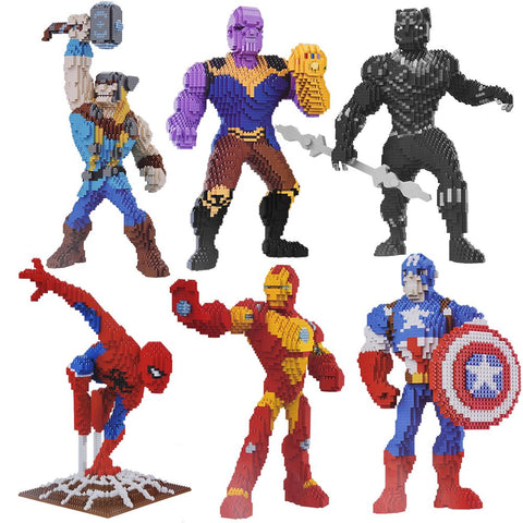 Diamond Mini Nano Building Blocks Toy Hero Series Character Avengers Toys