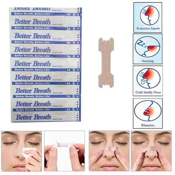 10pcs NASAL STRIPS Better Breath / Reduce Snoring Right Now