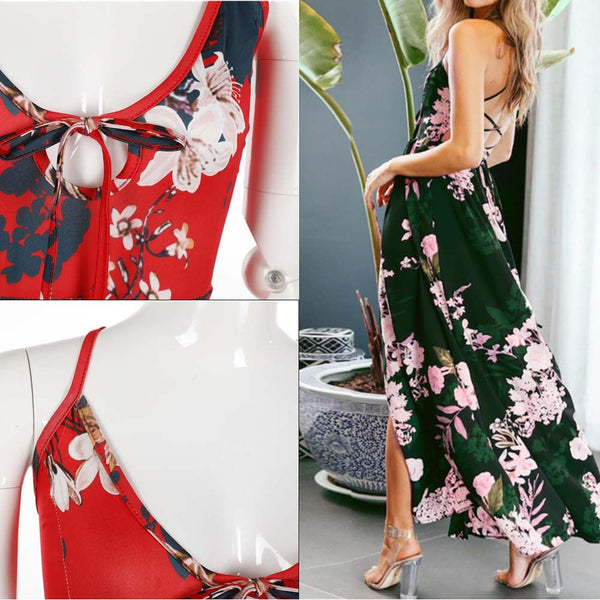 Women Summer Boho Long Maxi Dress Evening Party Cocktail Beach Sundress