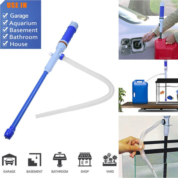 Handheld Liquid Transfer Gas Oil Fish Tank Siphon Water Pump Operated