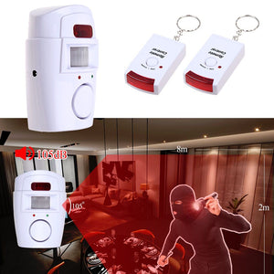 Wireless PIR Motion Sensor Alarm With 2 Remote Controllers