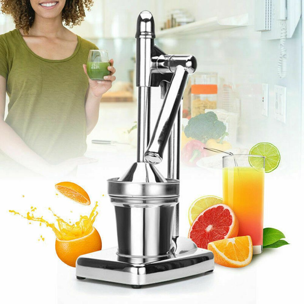 Orange Hand Press Citrus Squeezer Fruit Juicer Manual Juicer Stainless Steel