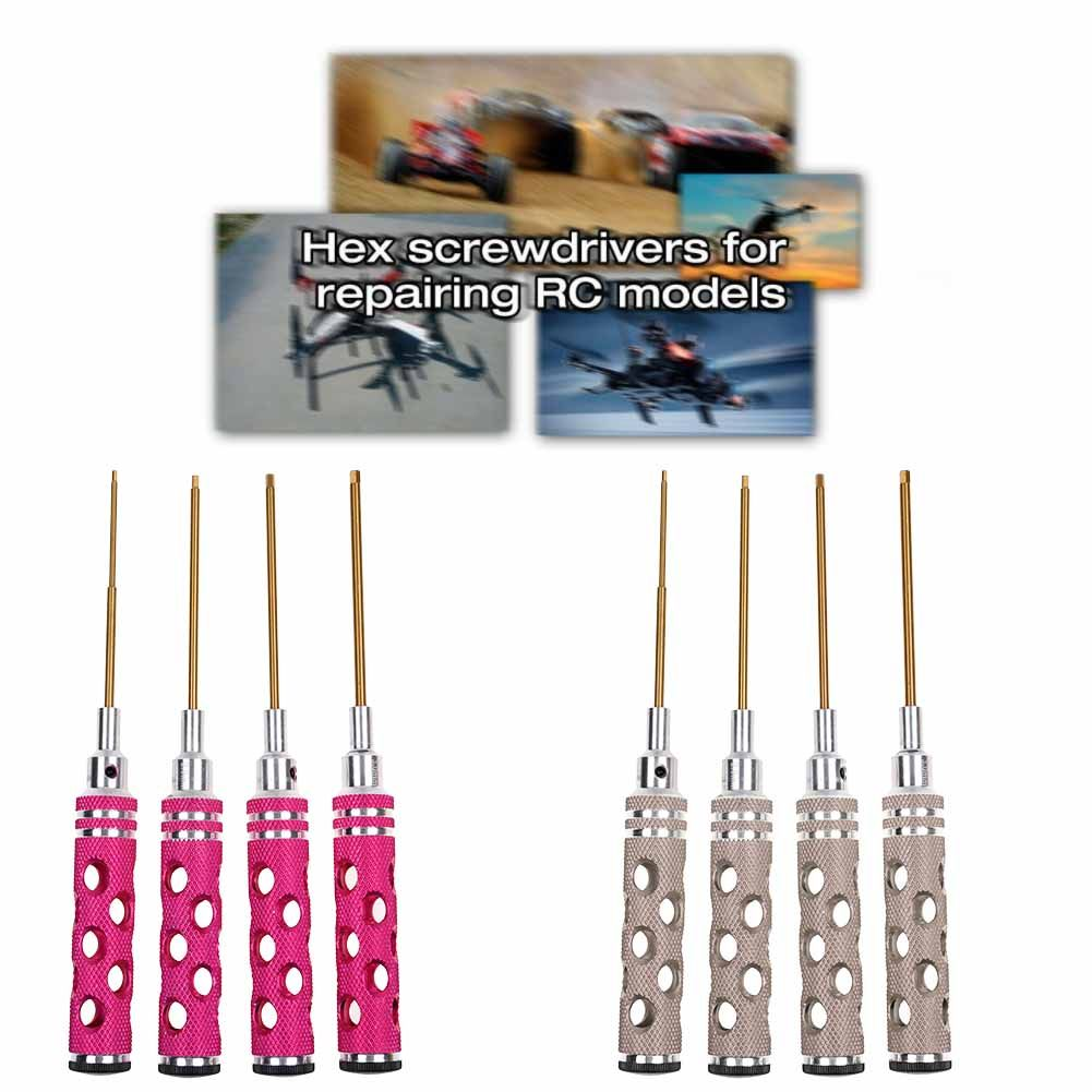 4pcs Hex Screwdriver Set 1.5 2.0 2.5 3.0mm Tools For RC Helicopter Car Model