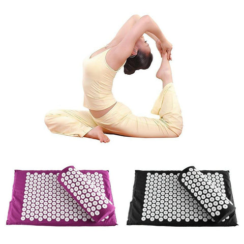 Acupressure Massage Mat with Pillow for Stress/Pain/Tension Relief Body