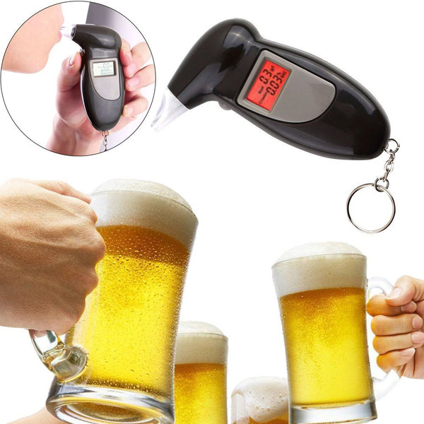 Digital LCD Alcohol Breath Analyzer Breathalyzer Tester Detector Test