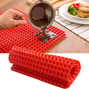 Silicone Oven Baking Tray Sheets Mat Pan Non Stick Fat Reducing Cooking