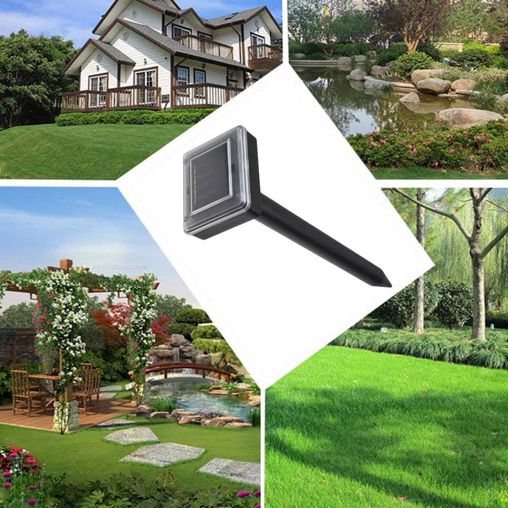 Solar Power Ultrasonic Sonic Mouse Mole Pest Rodent Repeller Repellent