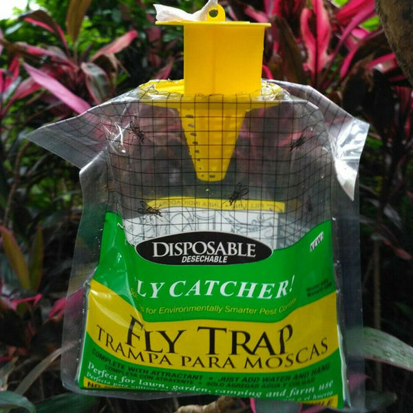 5PCS Fly Trap Catcher Fly Catcher Insect Trap Hanging Style Pest Cont