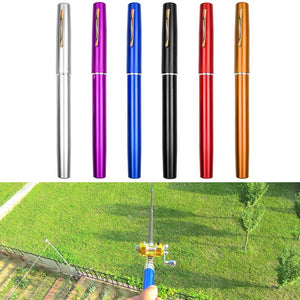 Mini Telescopic Portable Pocket Fish Pen Aluminum Alloy Fishing Rod Pole