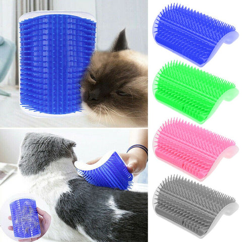 Pet Cat Self Groomer Brush Wall Corner Grooming Massage Comb