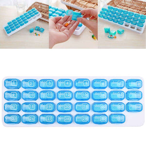 31 Day Monthly Pill Organiser Tablet Medicine Storage Dispenser Box Holder