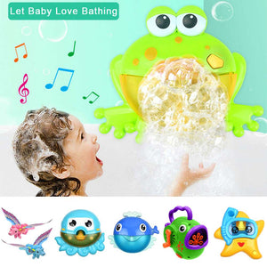 Kid Baby Bubble Tub Frog Automatic Shower Machine Blower Maker Bath Toys