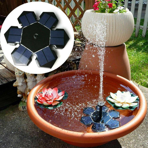 Solar Power Fountain Submersible Water Pump Garden Pond Pool Panel Set