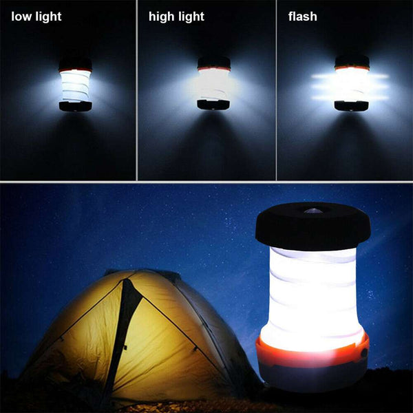 Folding Camping Lantern Retractable Led Tent Flashlight Outdoor Light