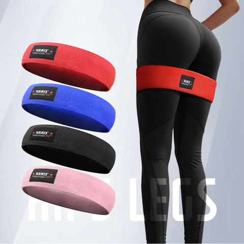 Ladies Elastic Legs Exercise Resistance Bands & Expanders HIP CIRCLE Glute