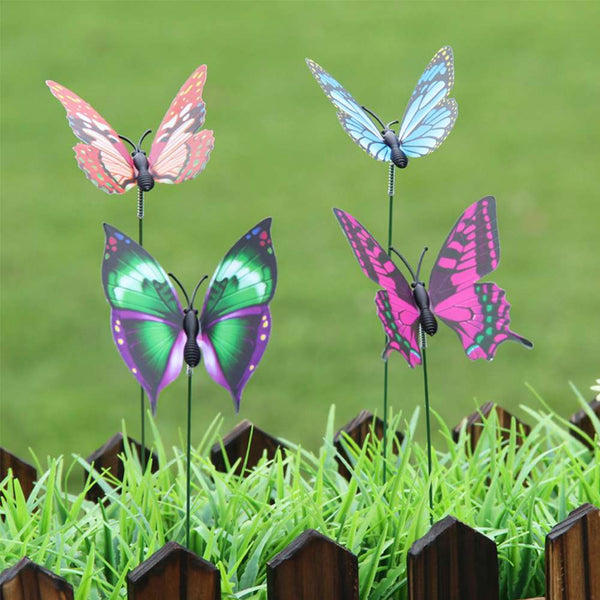 Lawn Ornament Fairy Garden Decoration Pot Butterfly Stakes Craft Dollhouse