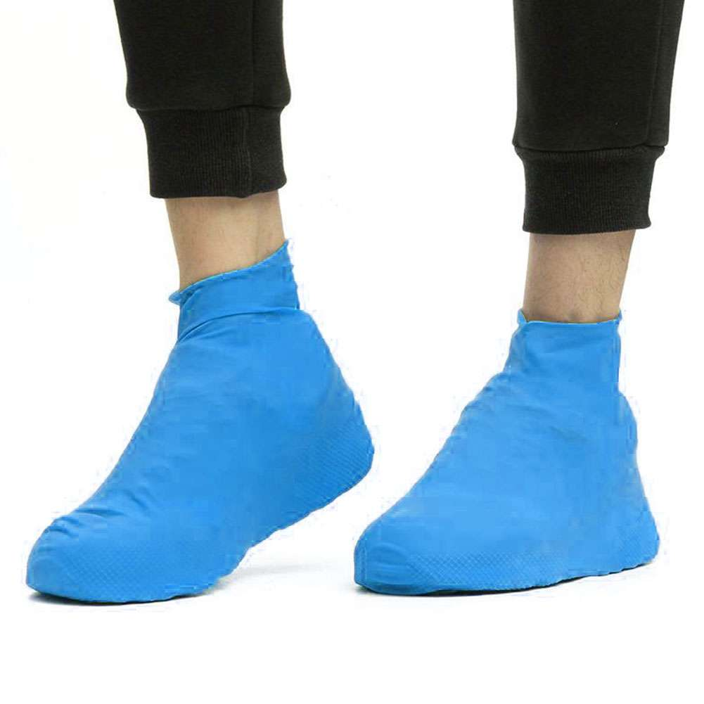 Anti-slip Reusable Latex Shoe Covers Waterproof Rain Boot Overshoes Shoes