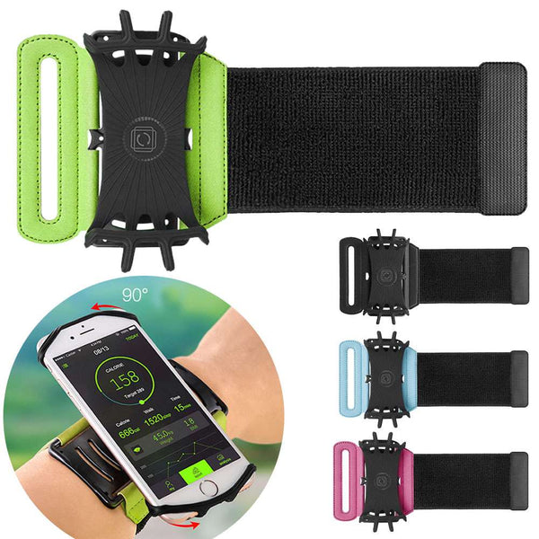 VUP Running Phone Arm Band Wristband 180 degree Running Bag Belt Wrist Strap