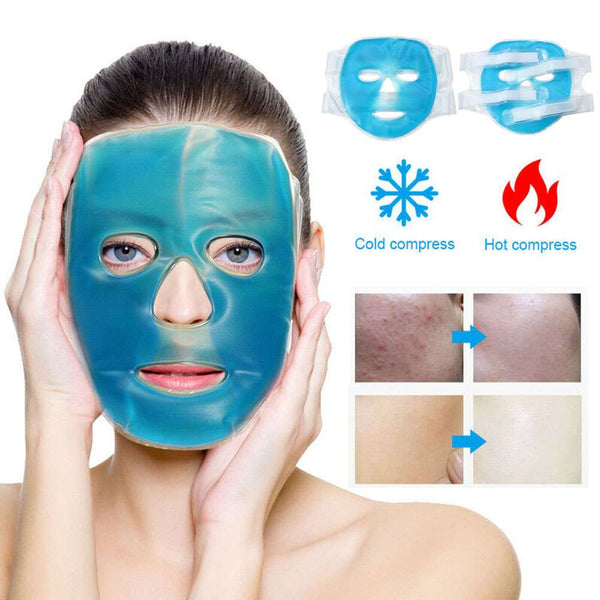 Gel Ice Pack Cooling Face Mask Pain Headache Relief Relaxing Pillows