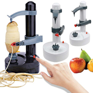 Automatic Electric Fruit Apple Pear Potato Peeler Cutter Slicer Kitchen Tool
