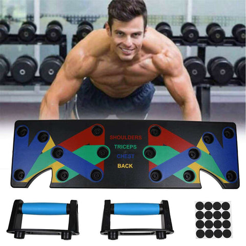 Push Up Rack Board 9 System Fitness Exercise Workout Training Gym Rack Stand