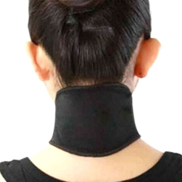 Neck Heat Therapy Support Belt Self Heating Tourmaline Magnetic Wrap Brace