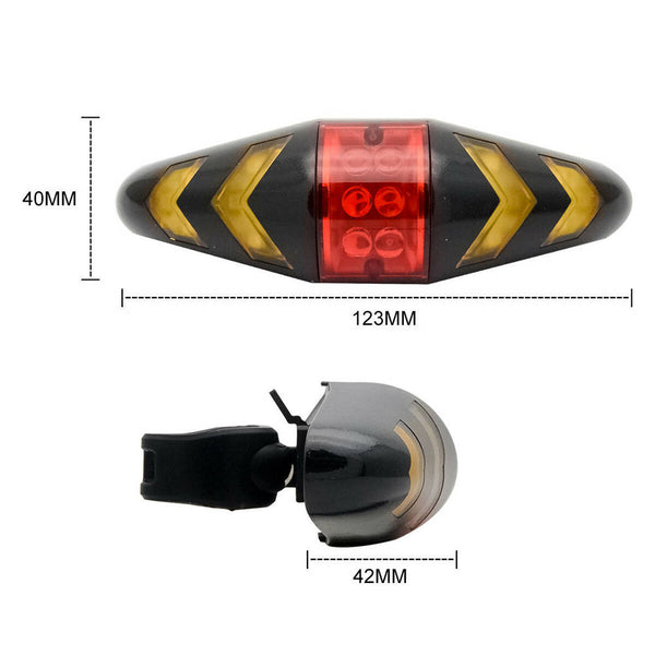 Bicycle LED Indicator Bike Rear Tail Laser Turn Signal Light Wireless