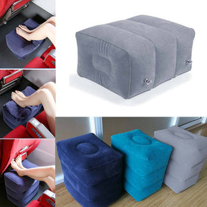 Plane Train Travel Inflatable Foot Rest Portable Pad Footrest Pillow Pad