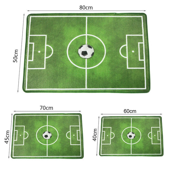 Large Green Football Soccer Pitch Soft Kids Play Floor Carpet Bedroom Rugs