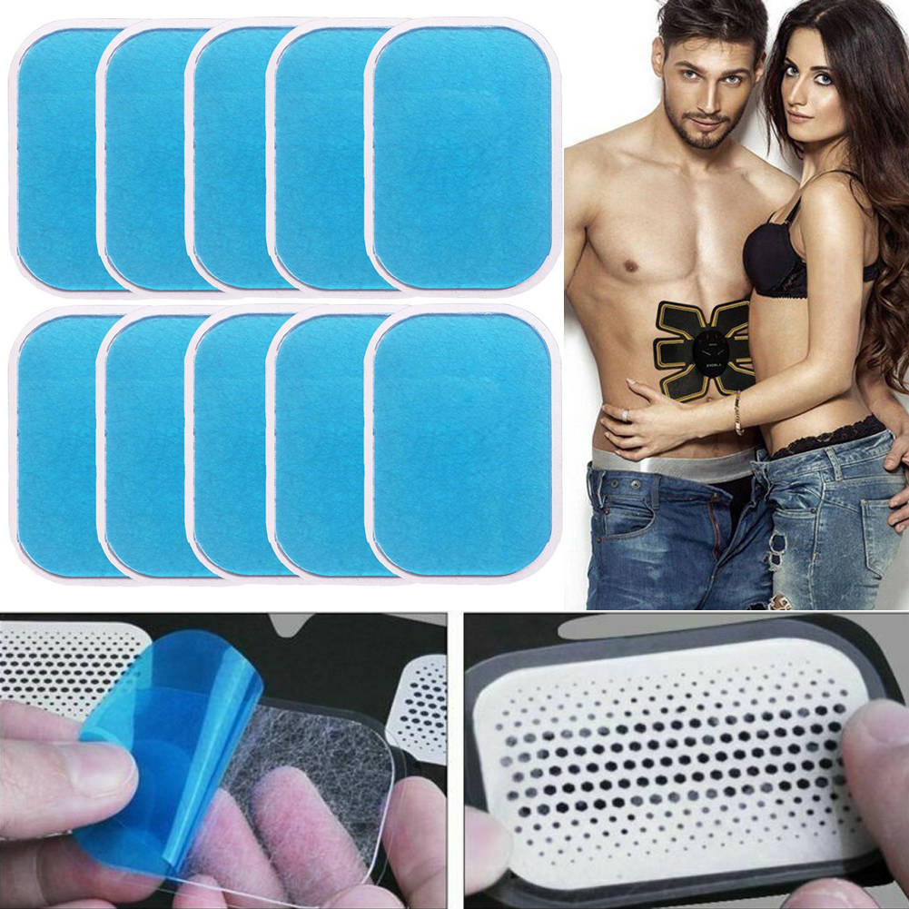 5pcs Muscle Toner GEL PADS Machine Belt Replacement Sheets Abs Fat Burner