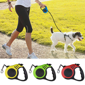 Automatic Retractable Dog Leash Pet Collar  Walking Lead FreeLeash
