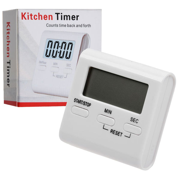 Digital Kitchen Egg Timer Magnetic Cook Baking LCD Count Down Up Loud Alarm
