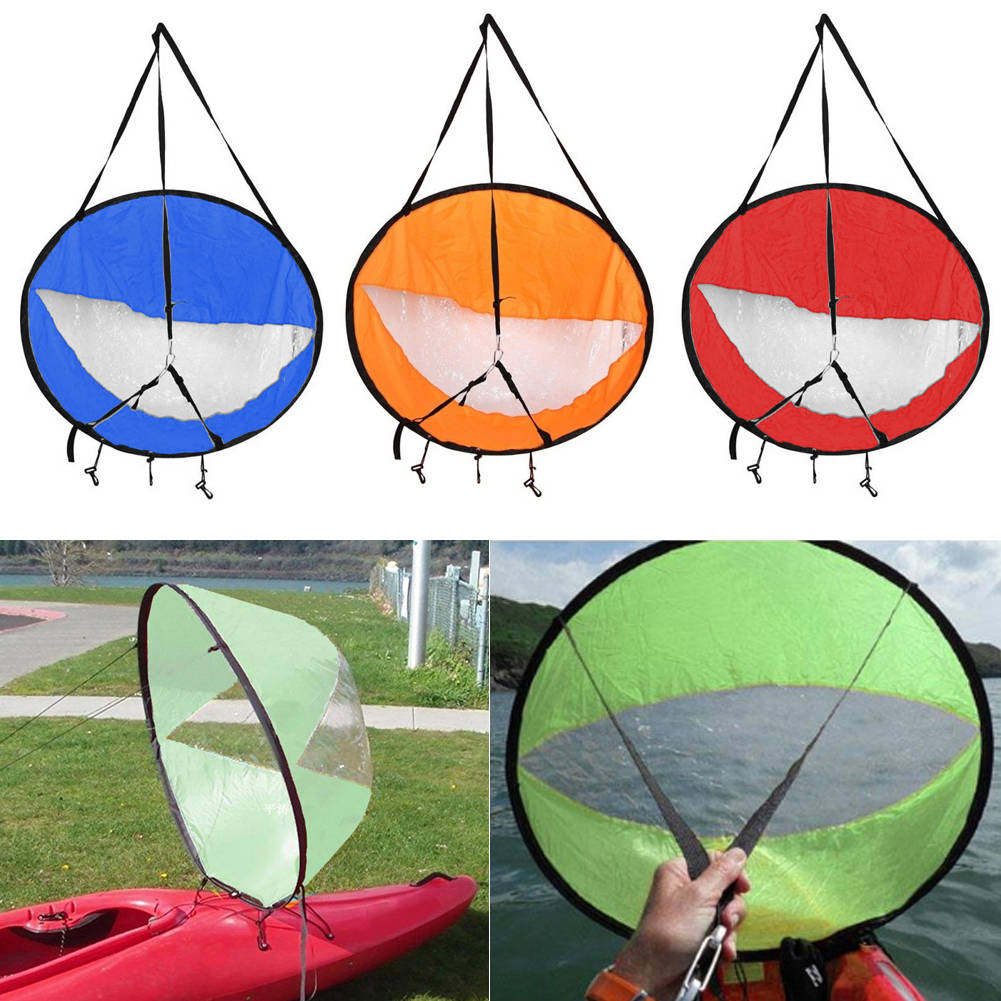 Foldable Kayak Boat Wind Sail Sup Paddle Board Sailing Canoe Stroke Sit on