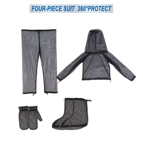 Outdoor Anti Mosquito Suit Jacket Mitts Pants Socks Net Yarn Mesh Cloth