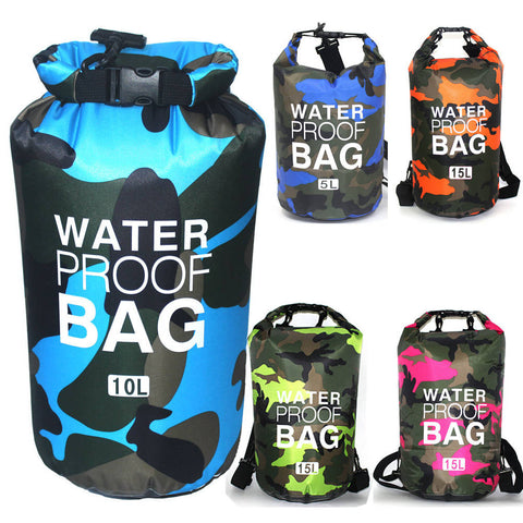 2/5/10/15L Waterproof Dry Bag Storage Sack Hiking Camping Fishing Kayaking