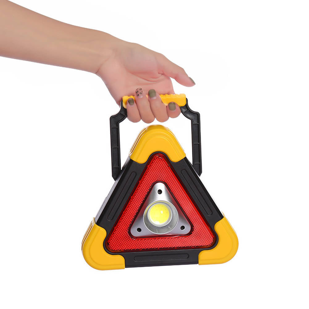 Warning Car Triangle Flashing LED COB Work Light Road Emergency Light