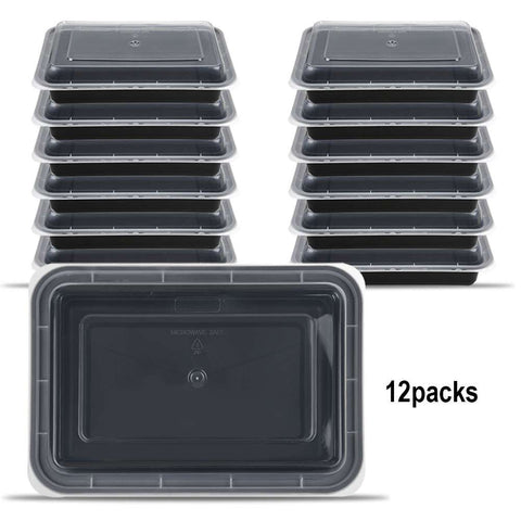 1 Compartment Bento Box Set.Reusable Plastic Food Container with Lids