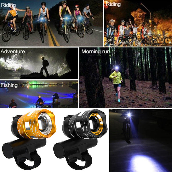 Rechargeable T6 LED MTB Bicycle Light Bike Front Headlight with USB