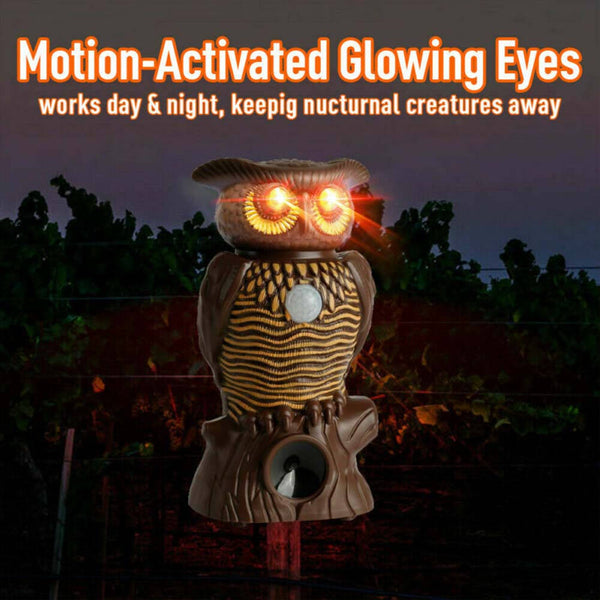 Owl Alert Motion Activated Security Statue As Seen On TV with Light-Up Eyes