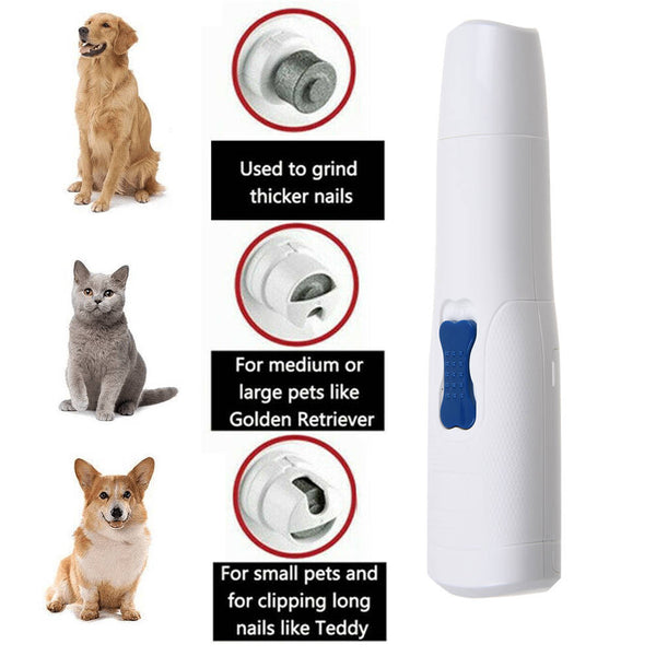 Electric Pet Nail Grinder Safe Claw Grooming Trimmer Dog Cat Paws Clipper