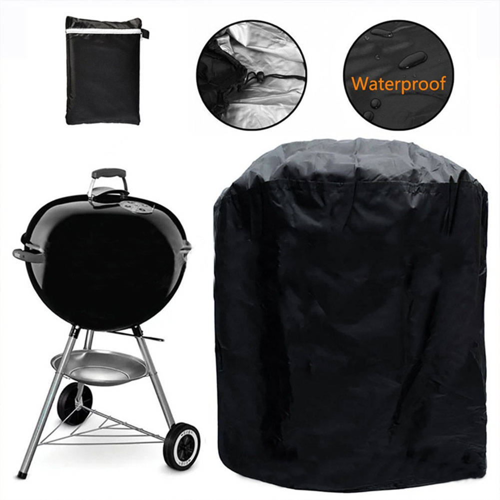 For Garden BBQ Grill Cover Barbecue Round Smoker Covers Waterproof