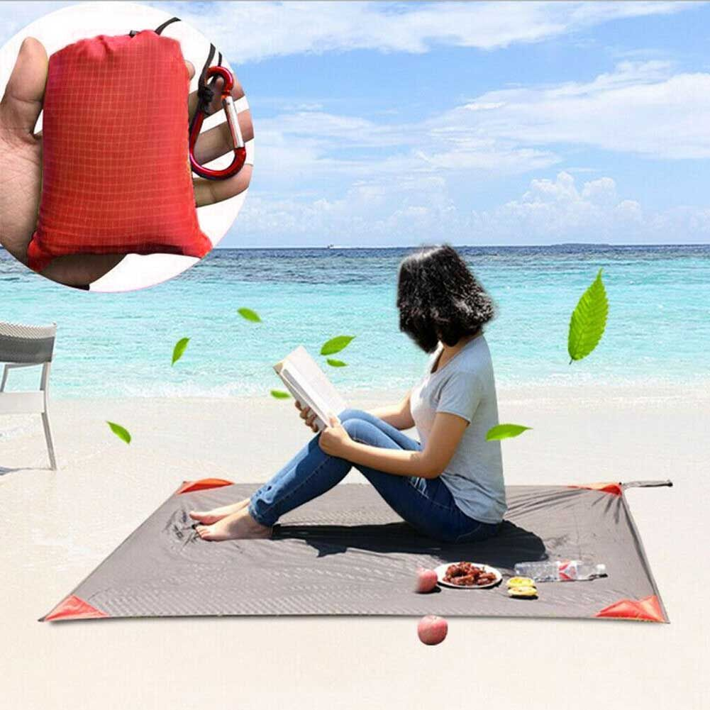 Outdoor Pocket Picnic Blanket Waterproof Beach Mat Camping Travel Sand