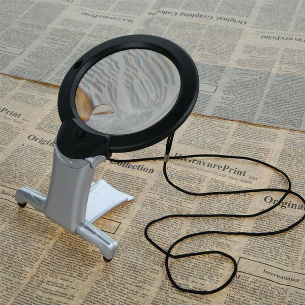 6X Large Magnifying Glass With Light Led Lamp
