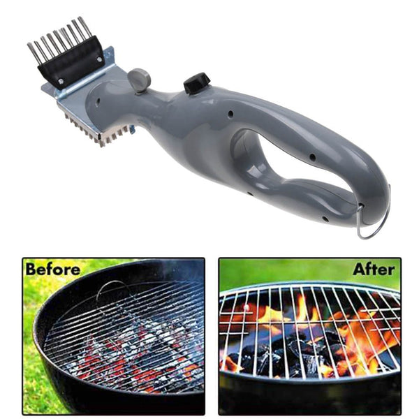 BBQ Vapor Cleaner Brush Barbecue Stainless Steel Cleaning Churrasco Outdoor