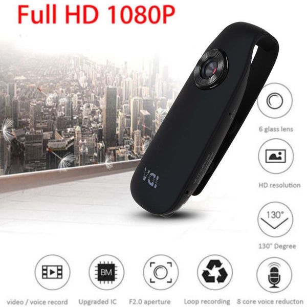 1080P HD 130° Mini Camera Dash Cam Police Body Motorcycle Sport Camcorder