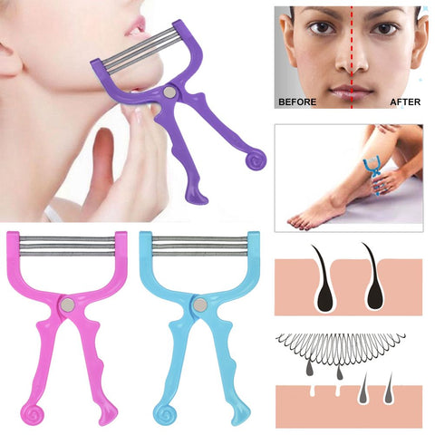 Facial Hair Remover Tool Face Beauty 3 Spring Threading Removal Epilator