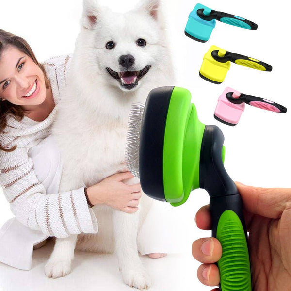 Self Cleaning Pet Dog Cat Slicker Brush Grooming for Medium and Long Hair